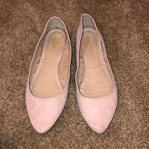 Suede tan flats from Old Navy